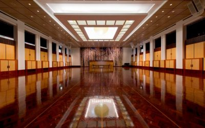 Parquetry wood floors in Parliament house