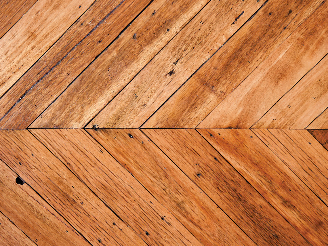 Blackbutt Chevron Parquetry
